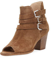 Cosaro Strappy Open-Toe Bootie Taupe