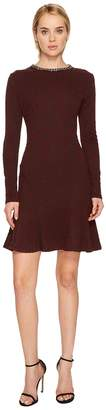 The Kooples Flowing Dress with Jewelled Collar