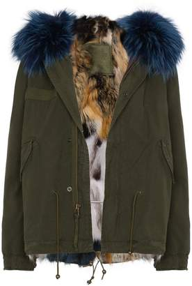 Mr & Mrs Italy mini patchwork fur lined parka