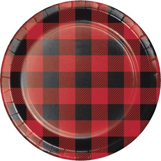 Buffalo David Bitton Creative Converting Plaid Dessert Plates, 8 pk