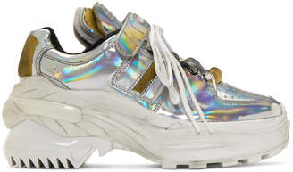 Maison Margiela Silver Iridescent Chunky Sneakers