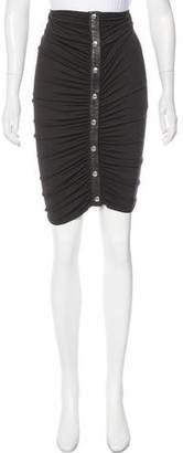 Michael Kors Ruched Knee-Length Skirt