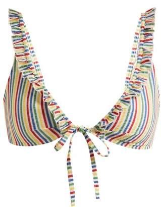 Solid & Striped - The Milly Striped Seersucker Bikini Top - Womens - Multi Stripe