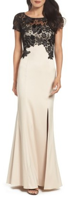 Women's Adrianna Papell Lace Mermaid Gown $249 thestylecure.com