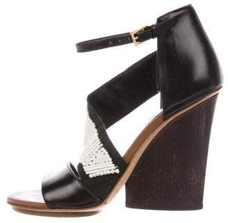 Maiyet Leather Round-Toe Wedges