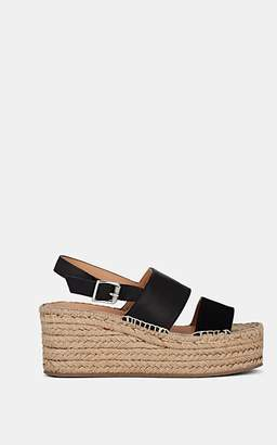 Rag & Bone Women's Edie Suede & Leather Platform Espadrille Sandals - Black