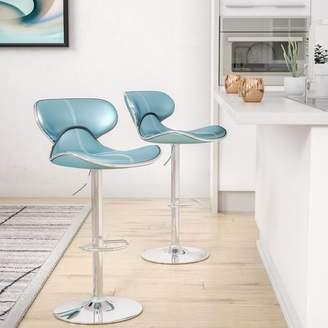 Wade Logan Harlow Adjustable Height Swivel bar stools