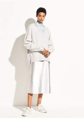 Vince Metallic Satin Slip Skirt
