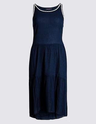 Marks and Spencer Cotton Rich Pleated Beach Dress