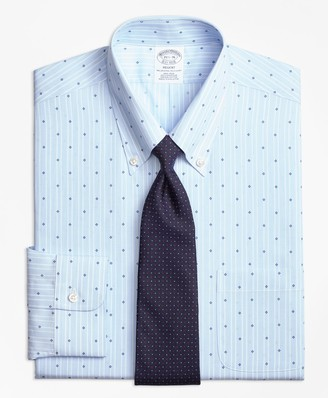 Brooks Brothers Regent Fitted Dress Shirt, Non-Iron Stripe Flower