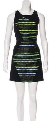 Milly Tweed-Accented Sheath Dress w/ Tags