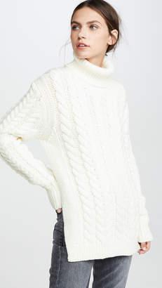 Tibi Turtleneck Bareback Pullover