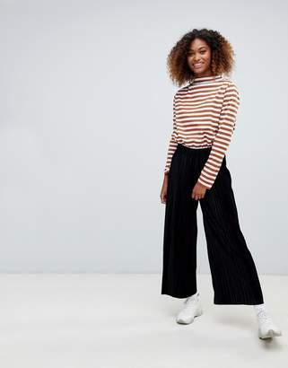 Weekday pleated velvet cropped pants