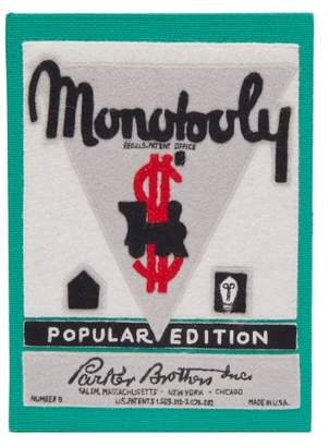 Olympia Le-Tan Olympia Le Tan Monopoly Popular Edition Embroidered Clutch - Womens - Green Multi