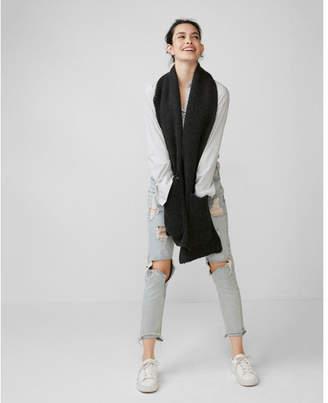 Express marled pocket oblong scarf