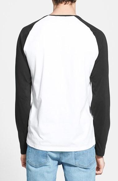 Topman Long Sleeve Baseball T-Shirt