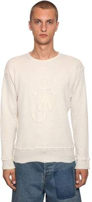 J.W.Anderson Embroidered Cotton Jersey Sweatshirt