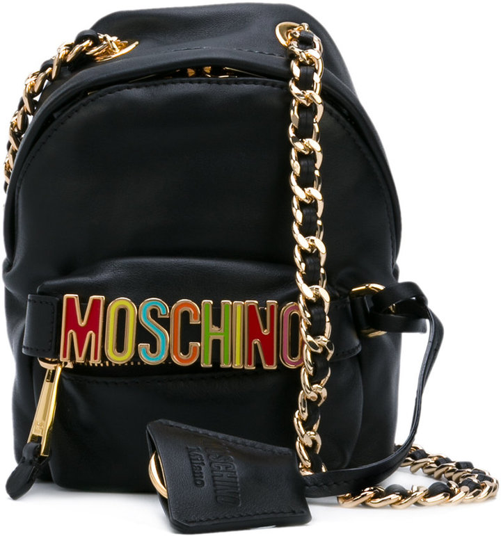 Moschino Moschino logo plaque cross body bag