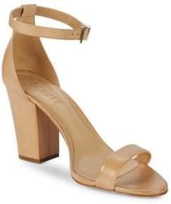 Schutz Ankle-Strap Leather Sandals