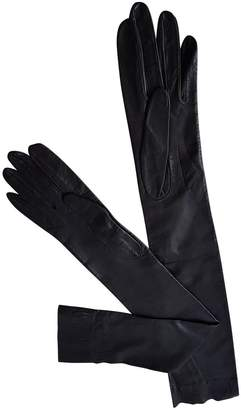 Rochas Leather long gloves