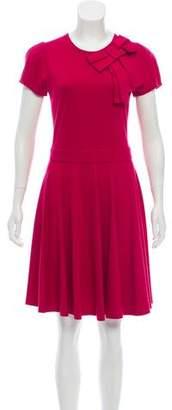 RED Valentino Short Sleeve Knee-Length Dress