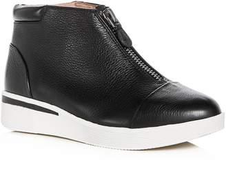 Gentle Souls Women's Hazel-Fay Leather Wedge Sneaker