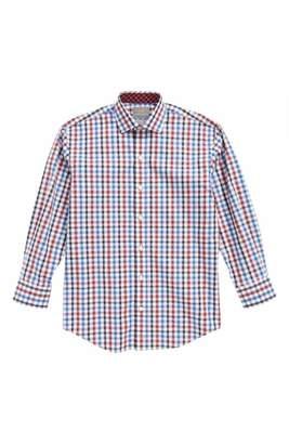 Thomas Dean Shadow Check Dress Shirt