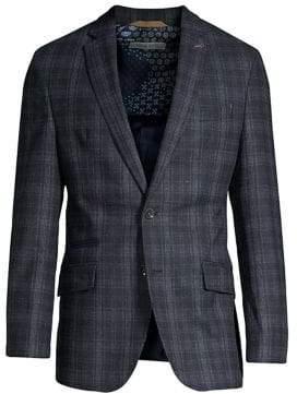 Bugatti Wool-Blend Check Sport Jacket