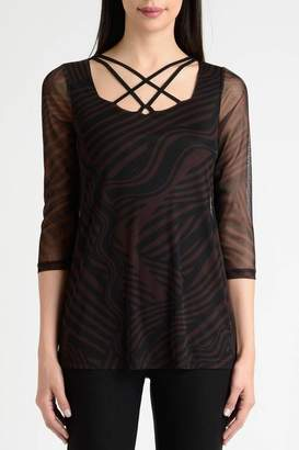 Lynn Ritchie Stripe Flare Top