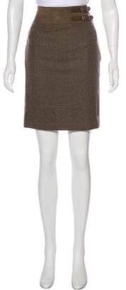 Ralph Lauren Black Label Plaid Pencil Skirt