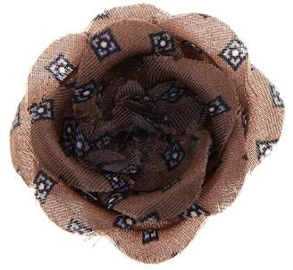 hook + ALBERT Geometric Silk Lapel Flower