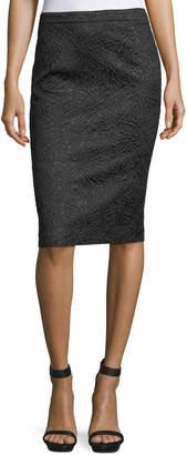 Andrew Gn Jacquard Pencil Skirt
