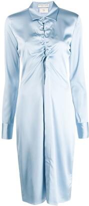 Bottega Veneta ruched cut-out shirt dress