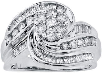 JCPenney MODERN BRIDE 1 CT. T.W. Diamond 14K White Gold Swirl Ring
