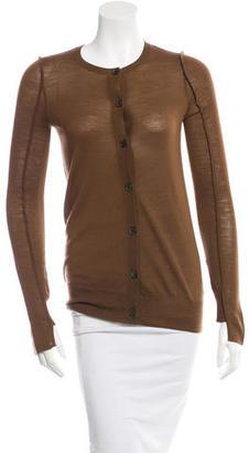 Vera Wang Wool Long Sleeve Cardigan w/ Tags $135 thestylecure.com