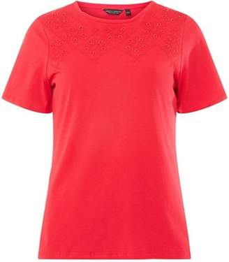 Dorothy Perkins Womens Raspberry CutOut T-Shirt
