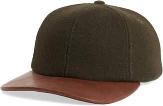 Crown Cap Melton Wool Blend Baseball Cap