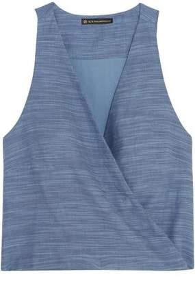 Vix Paula Hermanny Wrap-effect Cotton Top