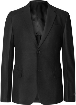 Prada Black Slim-Fit Unstructured Wool-Flannel Suit Jacket