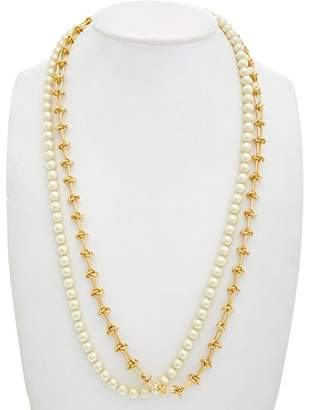 Rebecca Minkoff 14k Gold Long Pearl Strand Necklace