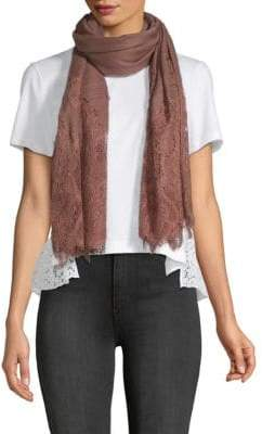 Valentino Lace-Trimmed Scarf