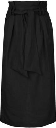 Gabriela Hearst belt tie straight skirt