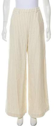 Cacharel High-Rise Wide-Leg Woven Pants w/ Tags