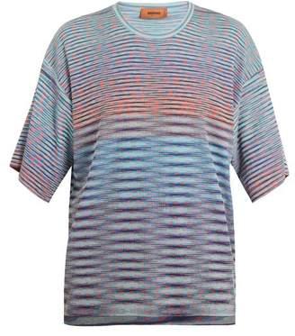 Missoni Striped-knit cotton T-shirt