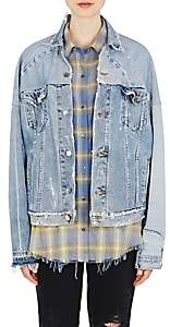 Amiri Women's Reconstructed Denim Jacket - Medblu