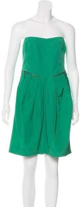 See by Chloe Strapless Cocktail Dress