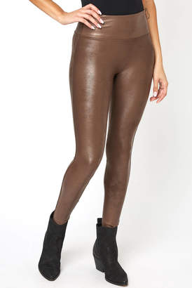 Spanx Faux Leather Leggings Bronze M