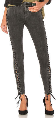 Hudson The Stevie Midrise Lace Up Skinny.
