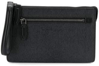 Salvatore Ferragamo textured clutch bag