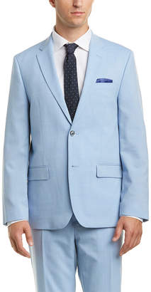 Ben Sherman 2Pc Wool-Blend Suit With Flat Front Pant